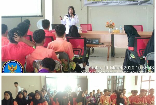 Sosialisasi Bahaya Penyalahgunaan Narkoba pada Pelajar di Aula Kecamatan Jorong