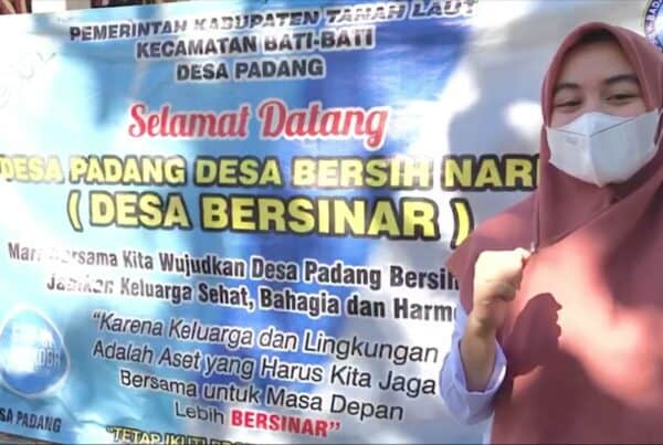 Dukungan Gerakan Anti Narkoba Desa Padang Kec. Bati-Bati