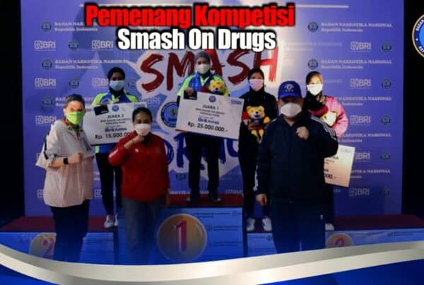 "Final National Table Tennis Competition ""Smash On Drugs"", Selamat Untuk Para Juara"